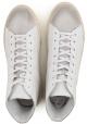 Sneakers alte Hogan da uomo in pelle bianco sporco