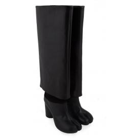 Stivali al ginocchio Maison Margiela in pelle nero