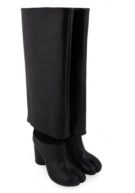 online store d2db9 9803e Stivali al ginocchio Maison Margiela in pelle nero