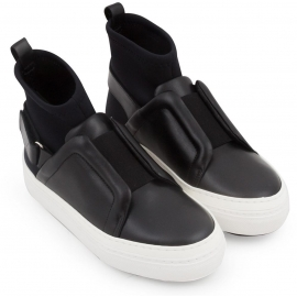 Sneakers alte Pierre Hardy donna in pelle nero