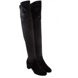 Stivali sopra al ginocchio Aquazzura in pelle nero