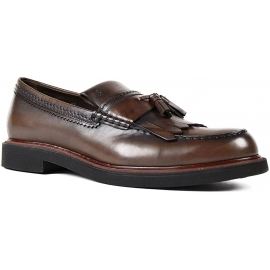 Mocassini con nappine Tod's in pelle cioccolato