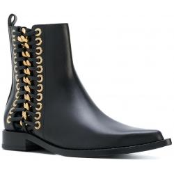 Stivaletti alla caviglia Alexander McQueen in pelle nero
