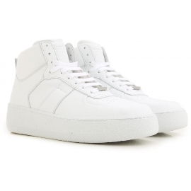 Sneakers alte Maison Margiela uomo in pelle bianco