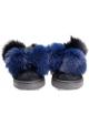 Sneakers Philippe Model in pelle scamosciato nero e pelliccia