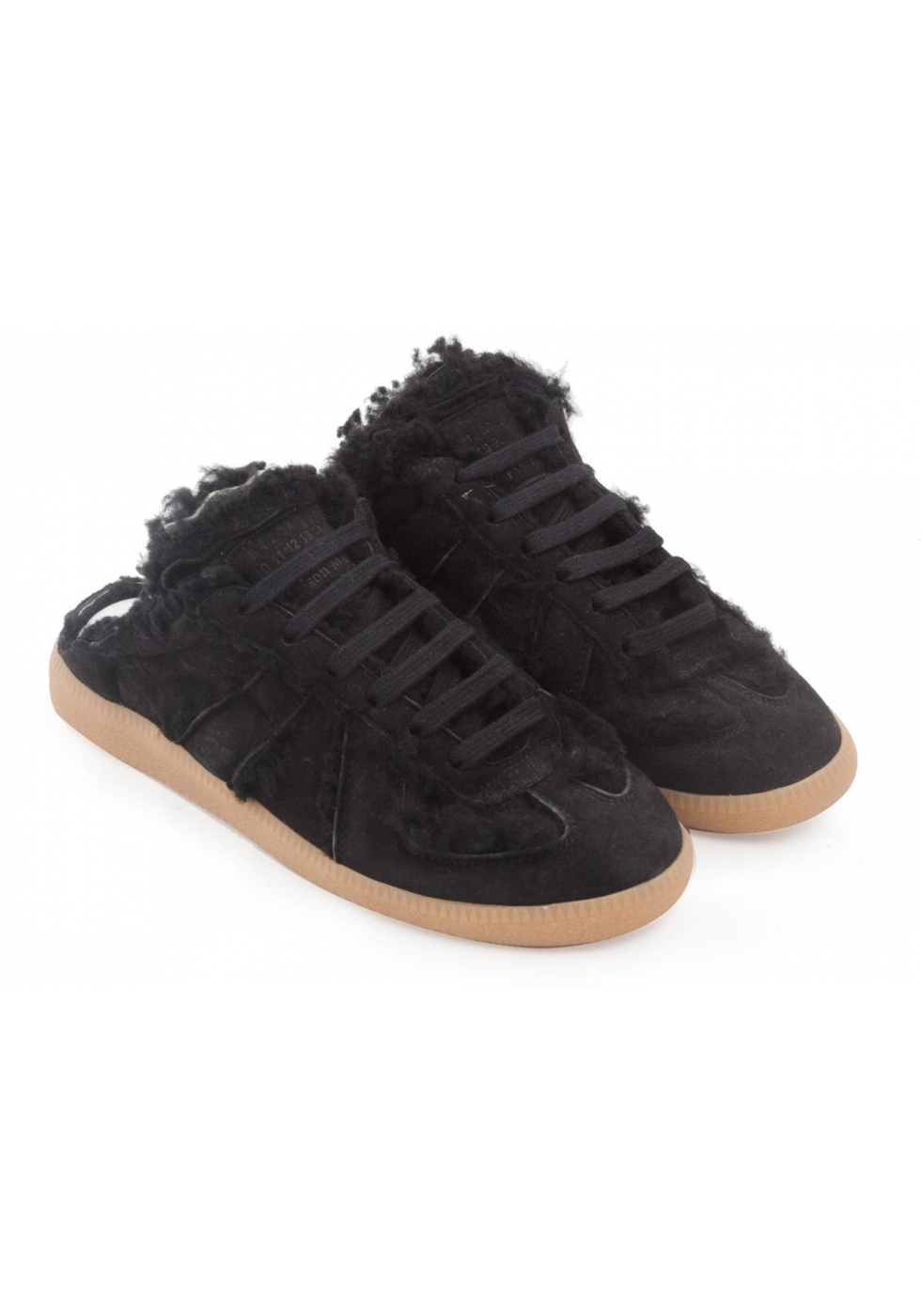 Donna Sneakers Replica Nero Pelle Scamosciato Maison In Margiela Y2WIEDH9