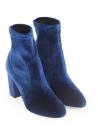 Stivaletti tacco alto Aquazzura in velluto blu