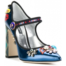 Decoltè Mary Janes Dolce&Gabbana in vernice multicolore