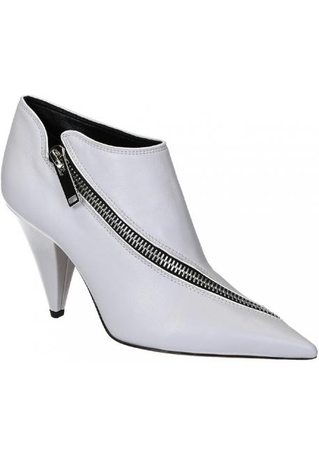 Stivaletti alla caviglia Céline in nappa grigio chiaro