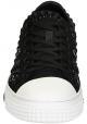 Sneakers basse Valentino uomo in tela nero con borchie