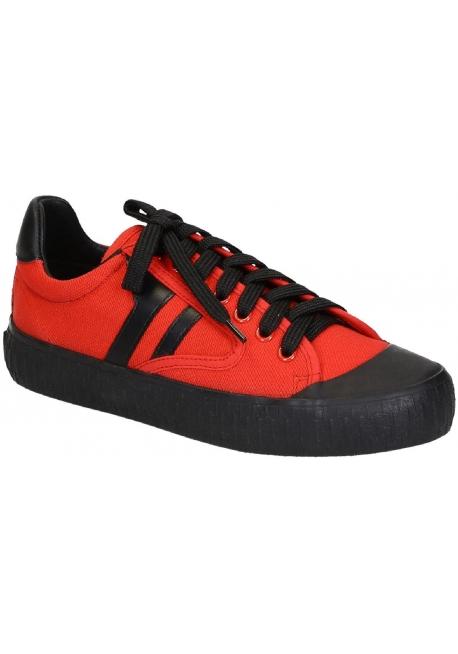 Sneakers Céline da donna in tela rossa e gomma nera