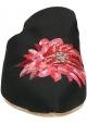 Babbucce Gia Couture in tessuto nero