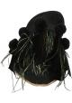 Ciabatte Gia Couture donna in pelle tessuto nero