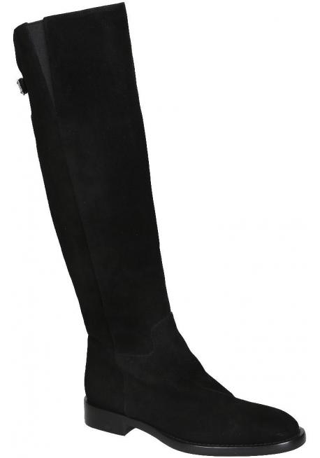 Stivali al ginocchio Dolce&Gabbana in scamosciato nero