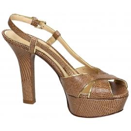 Sandali con plateau Dolce&Gabbana in pelle marrone medio