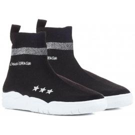 Sneakers calza Chiara Ferragni in tessuto tecnico nero