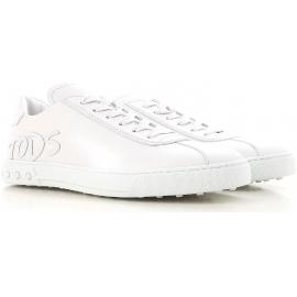 Sneakers Tod's uomo in pelle di vitello bianco