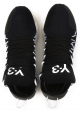 Sneakers Kusari Y3 uomo in pelle e tessuto nero