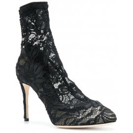 Decoltè calza Dolce&Gabbana donna in raso nero