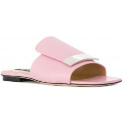 Ciabatte basse Sergio Rossi in pelle rosa chiaro