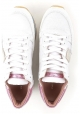 Sneakers basse Philippe Model da donna in pelle bianco