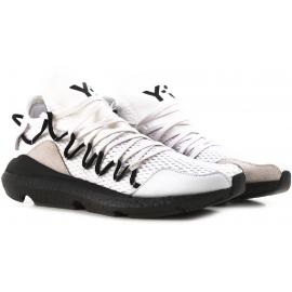 Sneakers Kusari Y3 uomo in pelle e tessuto bianco