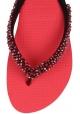 Ciabatte infradito Uzurii donna in gomma rosso