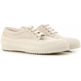 Sneakers Hogan donna in in tessuto beige chiaro