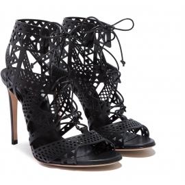 Sandali tacco alto a spillo Casadei in pelle nero