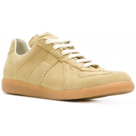 Sneakers Replica Maison Margiela uomo in tessuto beige
