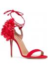 Sandali tacco alto Aquazzura in pelle scamosciato rosso