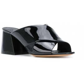 Sandali tacco alto Maison Margiela in vernice nero