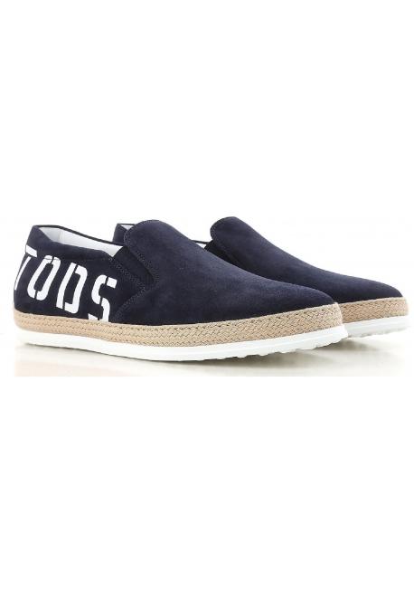 best sneakers 16d2b 6f97c Scarpe slip-on Tod's uomo in pelle scamosciato blu