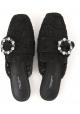 Ciabatte chiuse Dolce&Gabbana in raso nero
