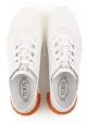Sneakers basse Tod's donna in pelle bianca traforata