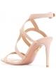 Sandali tacco alto Aquazzura in scamosciato rosa
