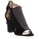 Sandali tacco alto Zanotti in camoscio nero