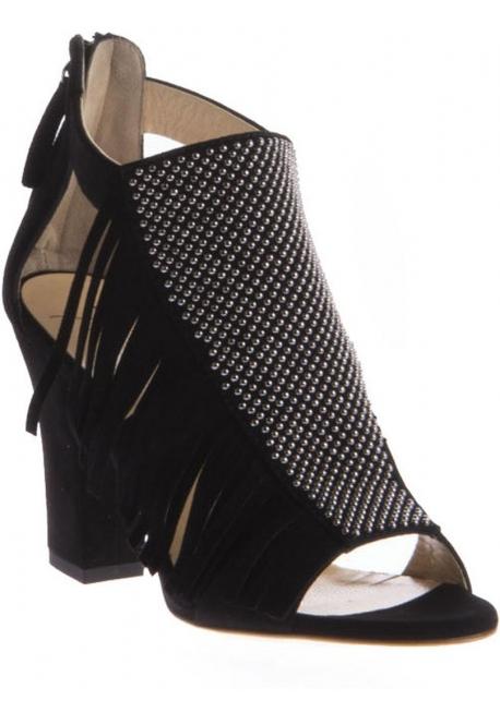Sandali tacco alto Giuseppe Zanotti in camoscio nero
