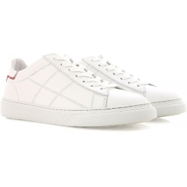 Sneakers basse Hogan da donna in pelle bianco