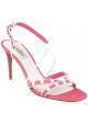 Sandali tacco alto Valentino in pelle scamosciato rosa