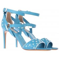 Sandali tacco alto Valentino in pelle azzurro