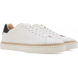 Sneakers Hogan uomo in pelle di vitello bianco