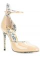 Sandali tacco alto Gucci in vernice color sabbia