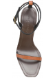 Sandali tacco alto Saint Laurent in pelle marrone