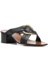 Sandali con alto Chloé in pelle nero