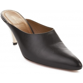 Sabot Céline in pelle di vitello nero