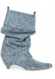 Stivaletti mezzo polpaccio Stella McCartney donna in tessuto Jeans