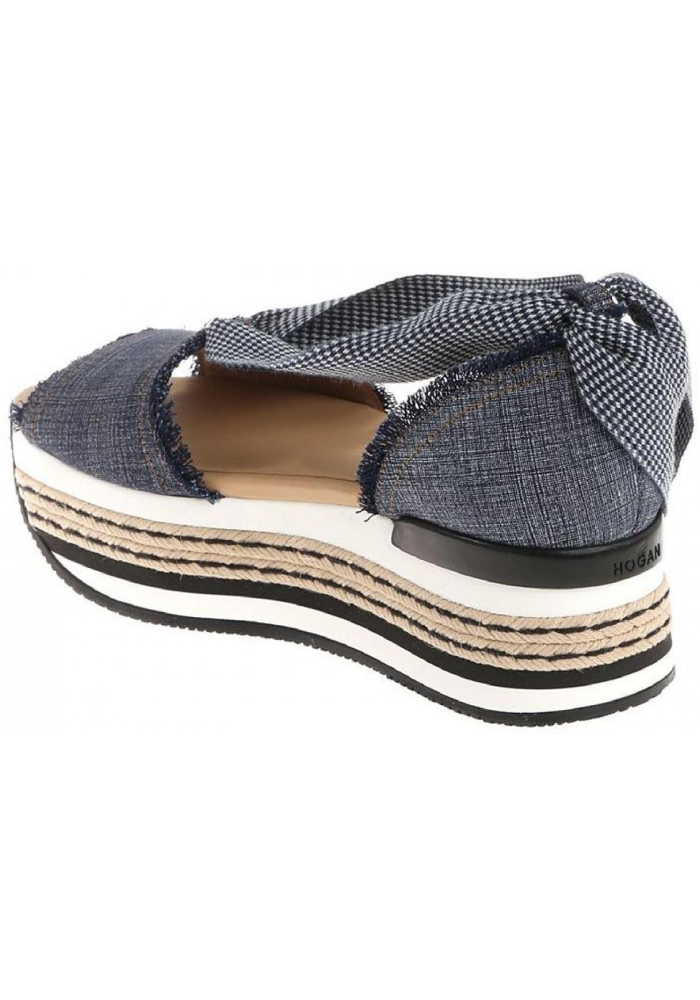 d63bebc5c6 Sandali tacco alto Hogan donna in tela Jeans - Italian Boutique
