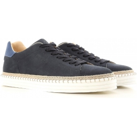 Hogan sneakers R206 da uomo in pelle blu