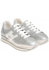 Sneakers Hogan donna in pelle argento